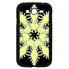 Yellow Snowflake Icon Graphic On Black Background Samsung Galaxy Grand Duos I9082 Case (black) by Nexatart