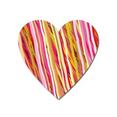 Color Ribbons Background Wallpaper Heart Magnet by Nexatart