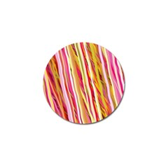 Color Ribbons Background Wallpaper Golf Ball Marker (4 Pack)