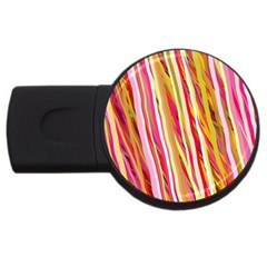 Color Ribbons Background Wallpaper Usb Flash Drive Round (4 Gb) by Nexatart