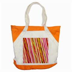 Color Ribbons Background Wallpaper Accent Tote Bag