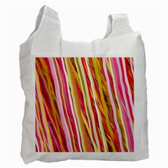 Color Ribbons Background Wallpaper Recycle Bag (one Side) by Nexatart