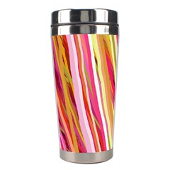 Color Ribbons Background Wallpaper Stainless Steel Travel Tumblers by Nexatart