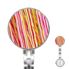 Color Ribbons Background Wallpaper Stainless Steel Nurses Watch by Nexatart