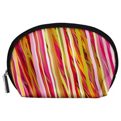 Color Ribbons Background Wallpaper Accessory Pouches (large)  by Nexatart
