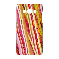 Color Ribbons Background Wallpaper Samsung Galaxy A5 Hardshell Case  by Nexatart