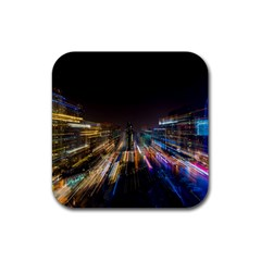 Frozen In Time Rubber Square Coaster (4 Pack)  by Nexatart