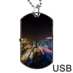 Frozen In Time Dog Tag Usb Flash (two Sides) by Nexatart