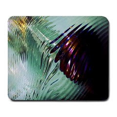 Out Of Time Glass Pearl Flowag Large Mousepads by Nexatart