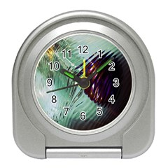 Out Of Time Glass Pearl Flowag Travel Alarm Clocks by Nexatart