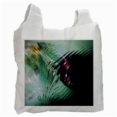 Out Of Time Glass Pearl Flowag Recycle Bag (two Side)
