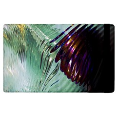Out Of Time Glass Pearl Flowag Apple Ipad 3/4 Flip Case by Nexatart
