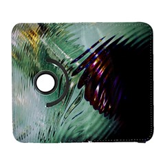 Out Of Time Glass Pearl Flowag Galaxy S3 (flip/folio) by Nexatart