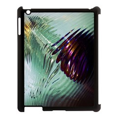 Out Of Time Glass Pearl Flowag Apple Ipad 3/4 Case (black) by Nexatart