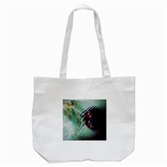 Out Of Time Glass Pearl Flowag Tote Bag (white)