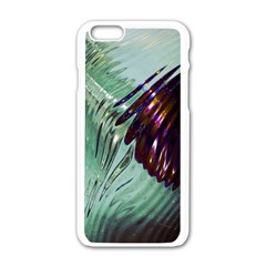 Out Of Time Glass Pearl Flowag Apple Iphone 6/6s White Enamel Case by Nexatart