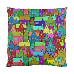 Neighborhood In Color Standard Cushion Case (two Sides) by Nexatart