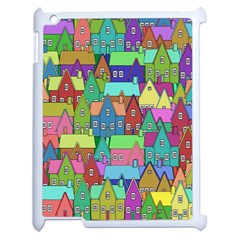 Neighborhood In Color Apple Ipad 2 Case (white) by Nexatart