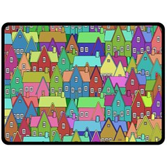 Neighborhood In Color Double Sided Fleece Blanket (large)  by Nexatart