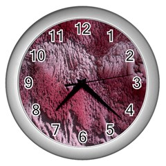 Texture Background Wall Clocks (silver)  by Nexatart