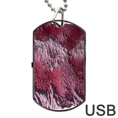 Texture Background Dog Tag Usb Flash (two Sides) by Nexatart