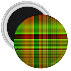 Multicoloured Background Pattern 3  Magnets by Nexatart