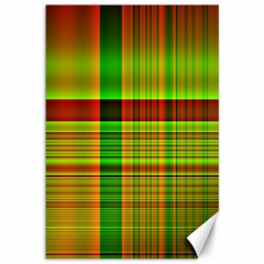 Multicoloured Background Pattern Canvas 12  X 18   by Nexatart