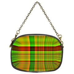 Multicoloured Background Pattern Chain Purses (one Side)  by Nexatart
