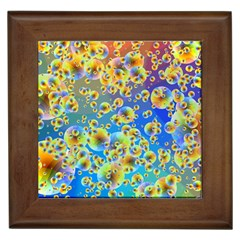 Color Particle Background Framed Tiles by Nexatart