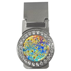 Color Particle Background Money Clips (cz)  by Nexatart