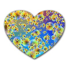 Color Particle Background Heart Mousepads by Nexatart