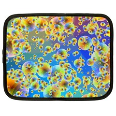 Color Particle Background Netbook Case (xxl)  by Nexatart