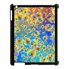 Color Particle Background Apple Ipad 3/4 Case (black)
