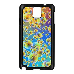 Color Particle Background Samsung Galaxy Note 3 N9005 Case (black) by Nexatart