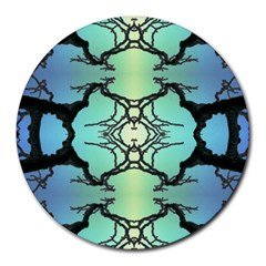 Branches With Diffuse Colour Background Round Mousepads by Nexatart