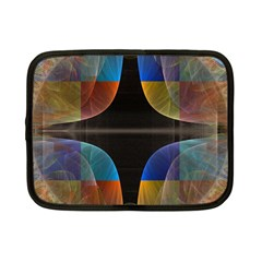 Black Cross With Color Map Fractal Image Of Black Cross With Color Map Netbook Case (small)  by Nexatart