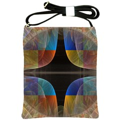 Black Cross With Color Map Fractal Image Of Black Cross With Color Map Shoulder Sling Bags by Nexatart