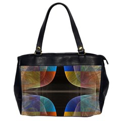 Black Cross With Color Map Fractal Image Of Black Cross With Color Map Office Handbags (2 Sides)  by Nexatart