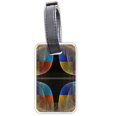 Black Cross With Color Map Fractal Image Of Black Cross With Color Map Luggage Tags (two Sides) by Nexatart