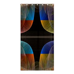 Black Cross With Color Map Fractal Image Of Black Cross With Color Map Shower Curtain 36  X 72  (stall)  by Nexatart