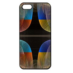 Black Cross With Color Map Fractal Image Of Black Cross With Color Map Apple Iphone 5 Seamless Case (black) by Nexatart
