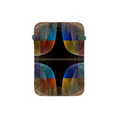 Black Cross With Color Map Fractal Image Of Black Cross With Color Map Apple Ipad Mini Protective Soft Cases by Nexatart