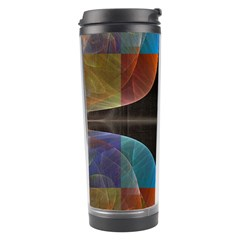 Black Cross With Color Map Fractal Image Of Black Cross With Color Map Travel Tumbler by Nexatart