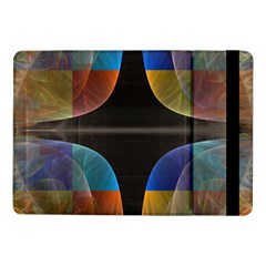 Black Cross With Color Map Fractal Image Of Black Cross With Color Map Samsung Galaxy Tab Pro 10 1  Flip Case