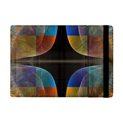 Black Cross With Color Map Fractal Image Of Black Cross With Color Map Ipad Mini 2 Flip Cases by Nexatart