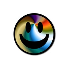Simple Smiley In Color Magnet 3  (round) by Nexatart