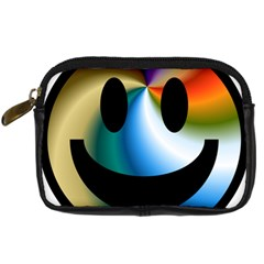 Simple Smiley In Color Digital Camera Cases by Nexatart