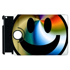 Simple Smiley In Color Apple Ipad 3/4 Flip 360 Case by Nexatart