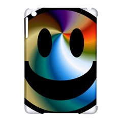 Simple Smiley In Color Apple Ipad Mini Hardshell Case (compatible With Smart Cover) by Nexatart
