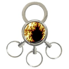 A Fractal Image 3 Ring Key Chains by Nexatart